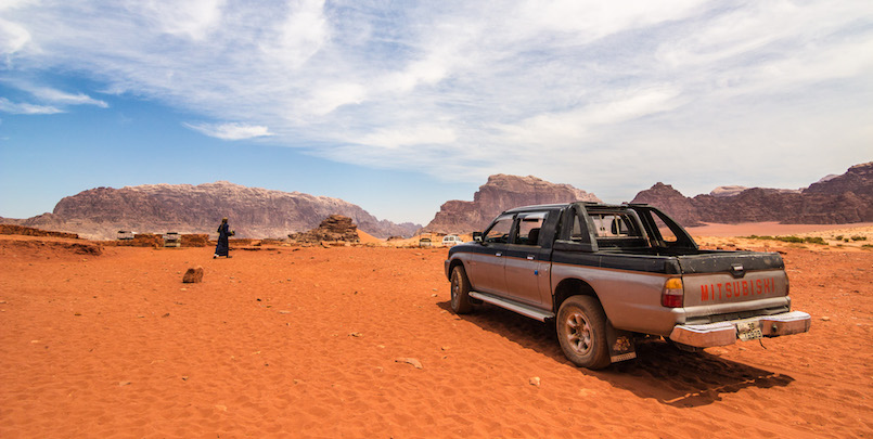The spectacular Wadi Rum desert