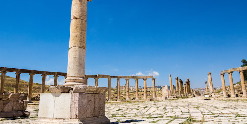 Jerash is a popular city, internationally renowned for its preservation and restoration of prominent Roman structures