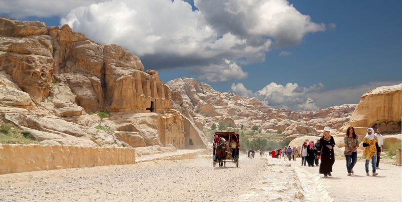The Road To Petra, Jordan, Middle East