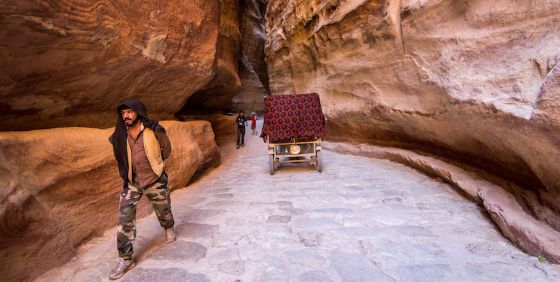 Al Siq Canyon in Petra