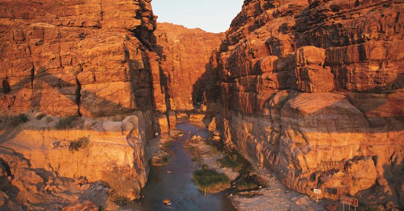 Wadi Mujib is one of the Top Views in Jordan
