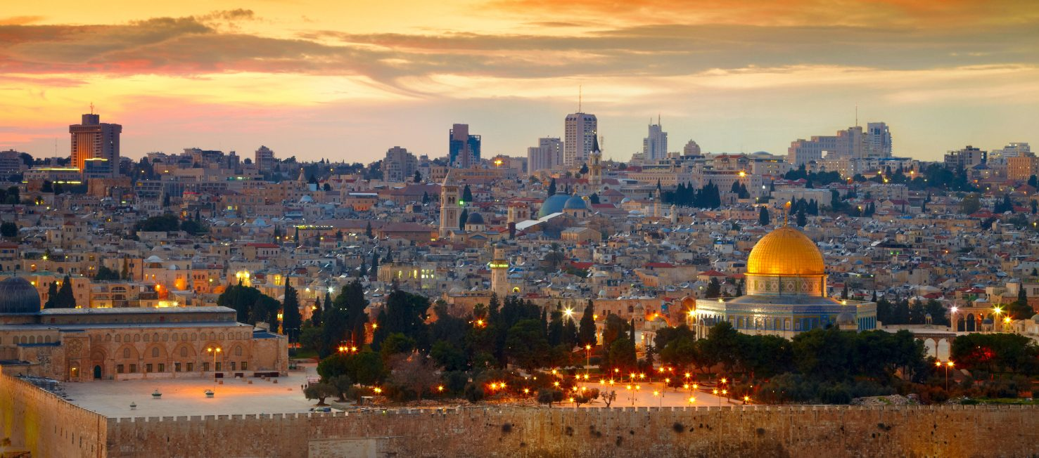 Panorama of Jerusalem's Old City in Israel
