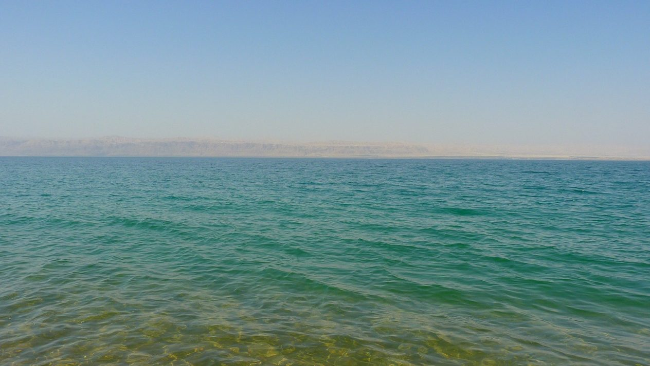 Relaxing at the Dead Sea in Jordan