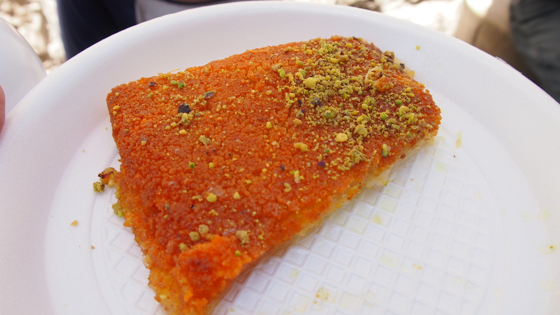 Tasty Knafeh in the streets of Amman