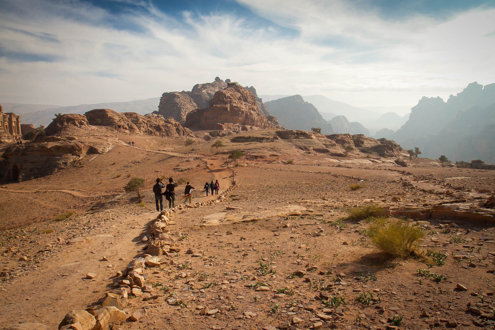 Hiking in Petra