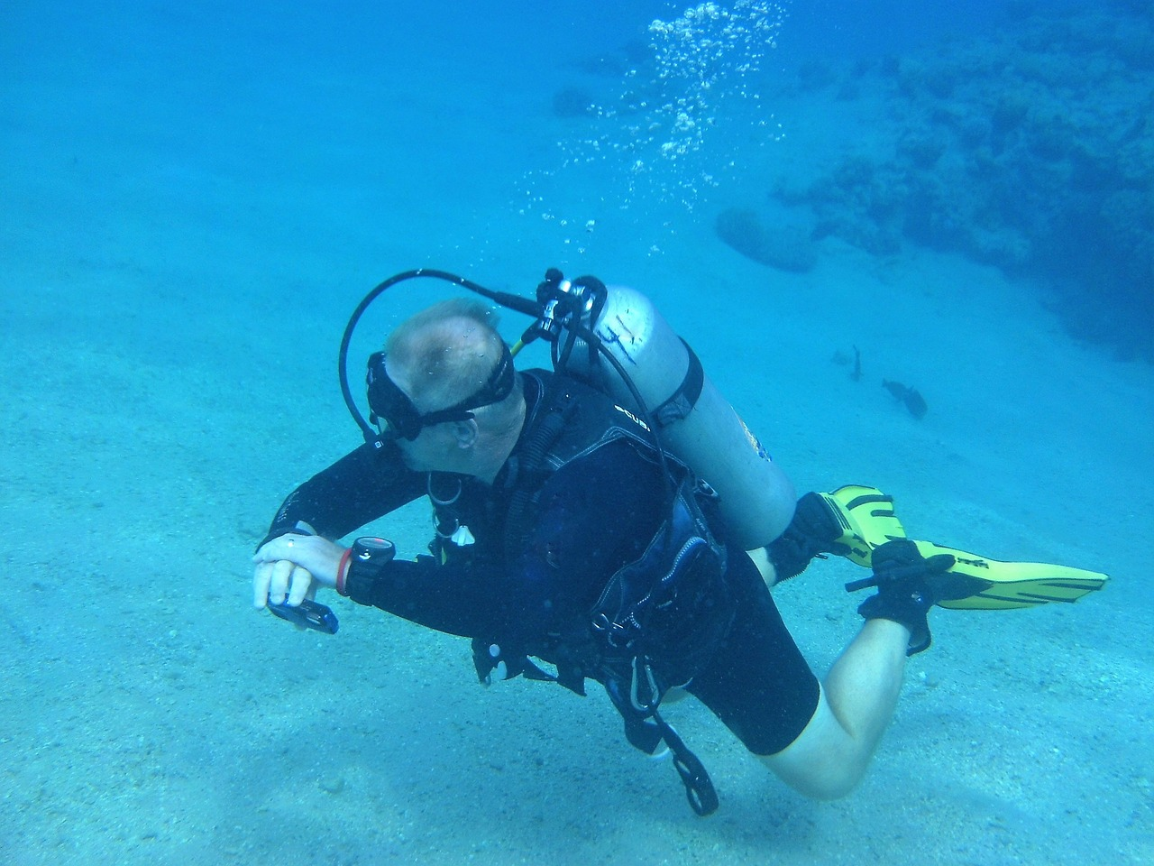 Diving is a popular activity in Eilat.