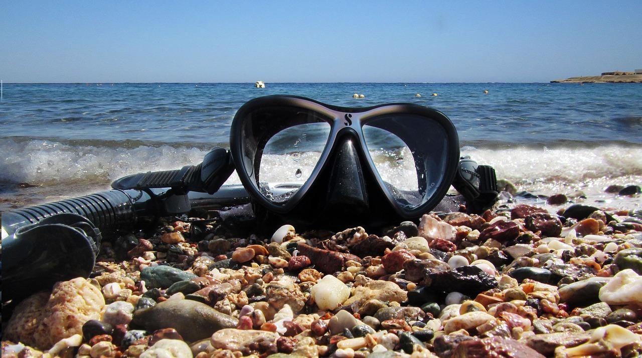 Snorkeling in Aqaba in summer in Jordan