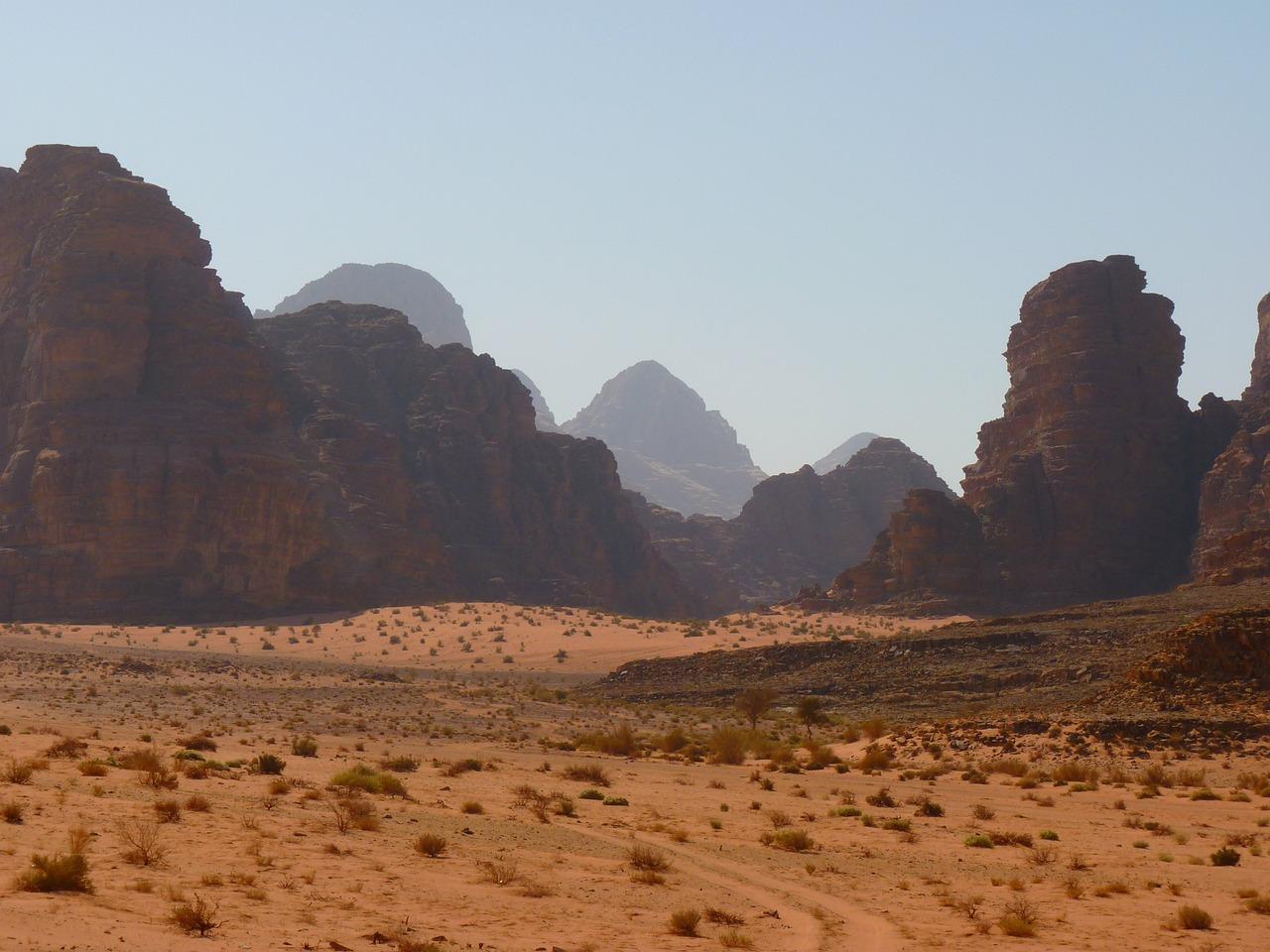 The desert in Jordan is spectacular