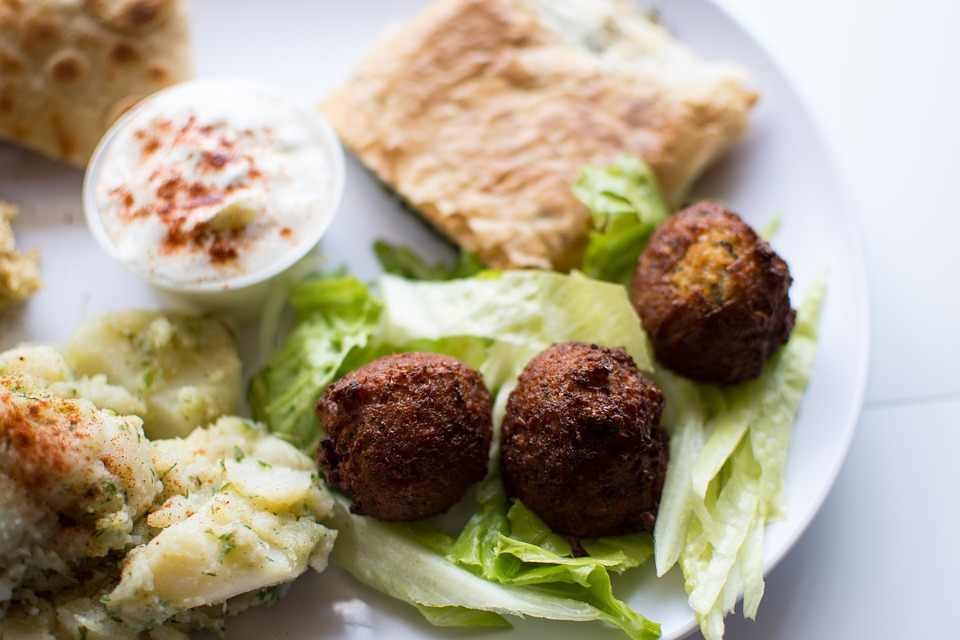 Traditional Jordanian Street food: Falafel
