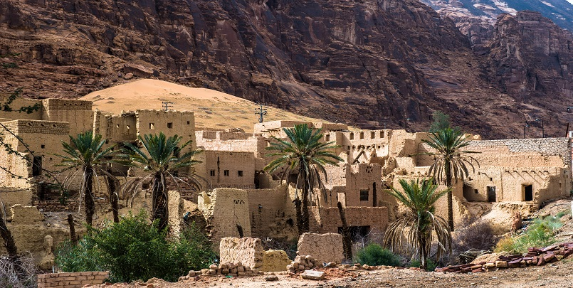 Stop in Al Ula Village on the 13 Day Highlights of Israel, Saudi Arabia & Jordan Package Tour